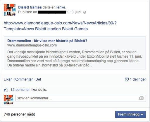 BislettGames Facebook