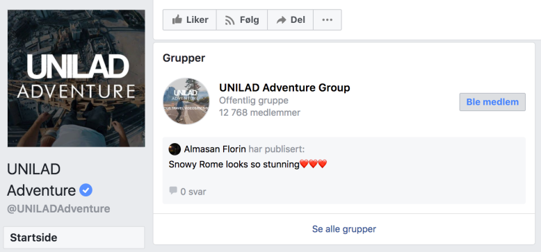 facebookside, facebookgrupper
